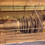 Low pressure Steam Turbine rotor following blast cleaning.