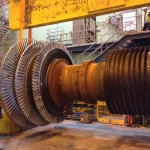 Gas Turbine rotor with new buckets installed.